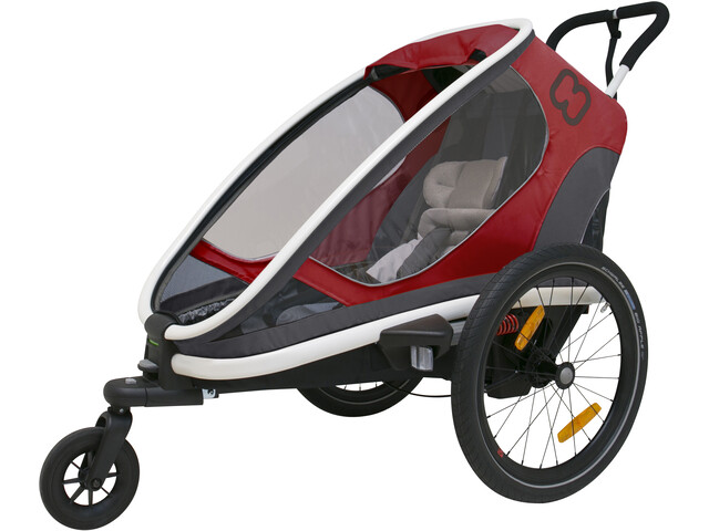Hamax Outback One Remolques, red/grey/black
